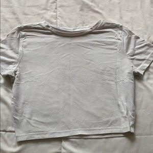 Cropped white T-shirt